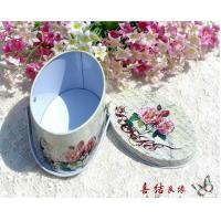 Quality 115 * 55 * 120mm Nestle Oval Shaped Coffee Tin Box With Printing / Embossing for sale