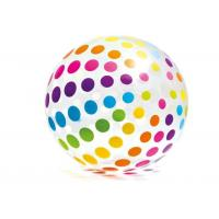 "Jumbo Inflatable Beach Ball 42"" Large Diameter Crystal Clear With Translucent Dots"