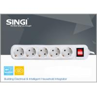 Quality Self Grounding multi outlet power strip , extra long power strip for sale