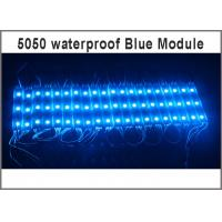 Quality 20pcs DC 12V 5050 SMD 3 LED Module blue Waterproof IP65 Super Bright LED Module light for Signage Advertising for sale