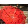 Buy cheap Transparent Unique Rain Umbrellas lace printed wedding favors wedding parasol from wholesalers