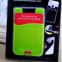 China custom silicone smart card wallet 3m sticky cell phone card holder on sale