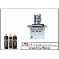 Quality Semi Automatic Aerosol Spray Paint Filling Machine For Air Freshener / Refrigerant for sale