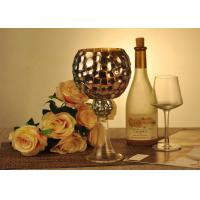 Quality Antique Mosaic Glass Candle Holder Electroplating Christmas Decoration for sale
