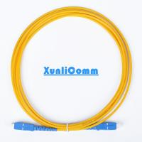 China FTTH Simplex SC-SC Fiber Optic Patch Cord 3 Meters Yellow Color Low Insertion Loss on sale