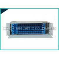 Quality White 1U Rack Mount Fiber Optic Patch Panel 24 LC Single Mode Connector Loaded for sale