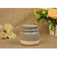 Quality 350 Ml Glazed Tealight Ceramic Candle Holder with Lid , Reusable for sale