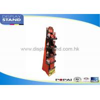 Buy cheap Customized Sturdy Cardboard Floor Display Stand Waterproof D&B / SGS from wholesalers