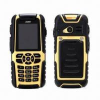 Quality IP67 Waterproof GSM Quad Band Mobile Phones with Adjustable Frequency Walkie Talkie and GPS for sale