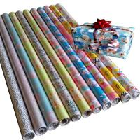 Quality 30inch x 120inch  80gsm coated paper wholesale gift wrapping  paper rolls for sale