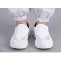 Quality 35-46 PU Leather Cleanroom ESD Shoe For Food Manufacturing for sale