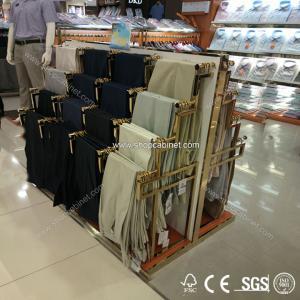 Quality China fashion shop fitting rack clothes metal shelf for sale