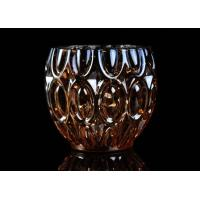 Quality 315ml Dimpled Shape Glass Candle Jars with Color Sprayed Electroplated Effect for sale