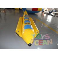 Buy 4 Players Yellow Inflatable Banana Boat Inflatable Water Ski Tubes For Water Game at wholesale prices