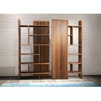 Quality 2017 New walnut wood Bespoke Furniture Storage Cabinet Display Shelves with Glass door for sale
