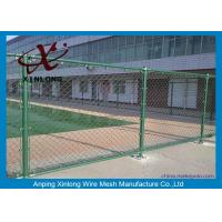 Quality Custom Green Fence Chain Link , Diamond Wire Mesh Strongly 1.8-4.5mm for sale