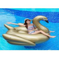 China 75'Golden Swan Inflatable Pool Floats Golden color animal  water Float From China Factory on sale