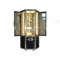 Buy cheap Hexagonal Glass Door Cake Showcase Upright Rotating Cake Display Cooler 4~8℃ from wholesalers