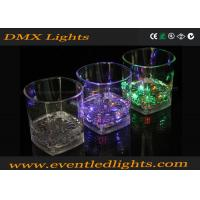 China Multicolor LED Plastic Cups , Liquid Activated Lighted Shot Glass on sale