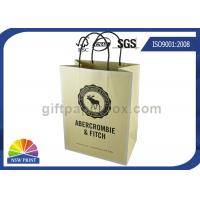 Quality Custom Brand Printed Shopping Kraft Paper Bags With Twisted Paper Handle for sale