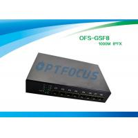 Quality 8 Port 12 Gbe SFP Fiber Optic Ethernet Switch 100 BASE - Fx DC5V 1A Power supply for sale
