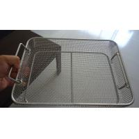 Quality Professional Square Wire Mesh Basket Tray Electrolyzation And Polishing Surface for sale