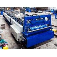 Quality Steel Corrugated Roof Panel Roll Forming Machine 16 / 18 Steps CE Approval for sale