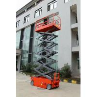 Buy Electric Hydraulic Self Propelled Scissor Lift , Mobile Scissor Lift 12m Lift Height at wholesale prices