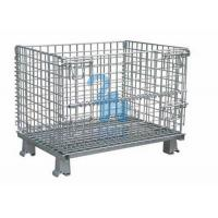 Buy Galvanized Steel Wire Storage Baskets Metal Storage Cage For Workshop at wholesale prices