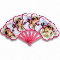 Quality Hand Fans, Customized Logo Printings are Accepted, Made of PP, Suitable for Promotional Purposes for sale