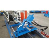 China PLC Control Stud Roll Forming Machine With Hydraulic Cutting , Forming Speed 0 - 15m / min on sale