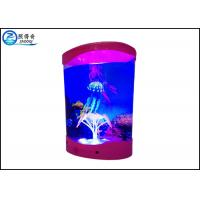 Quality Multicolored ABS Plastic Decorative Jellyfish Tank With 3 Silicone Simulation Jellyfish for sale