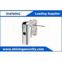 China Card Reading Tripod Turnstile Gate / Half Height Turnstile For Office Visitor Management on sale