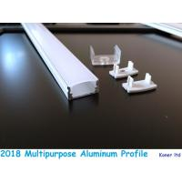 Buy cheap Aluminum extrusion for kitchen cabinet opal plastic coverd led aluminum profile with clips end caps accessory from wholesalers