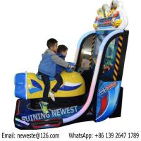 Quality Very Exciting Kids Coin Operated Drive Boat Airship Video Simulator Racing Game Machine for sale