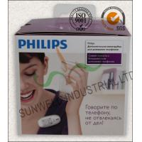 Quality Offset Printing Electronics Packaging Boxes With Transparant Plastic Handle for sale