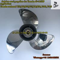 China 6G5-45978-00-98 13 1/2 x 15 Stainless Steel Propeller for Yamaha Outboard Engine 60-115HP on sale