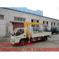 China factory sale best price dongfeng  4*2 LHD mini truck with crane, Dongfeng 2.5tons cargo truck mounted on crane for sale on sale