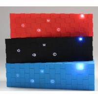 Quality Portable Cube Bluetooth Speaker with Flashing Led Lights Red / Blue / Black outdoor speaker for sale