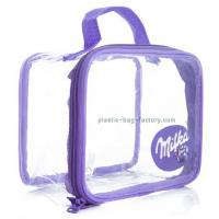 Buy cheap Customized See-through Vinyl PVC Travel Tote Bag Handbag for Girl Cosmetic Items from wholesalers