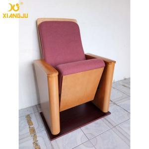 Buy Customized Molded Foam Plywood Auditorium Chairs Powder Coating Flame Retardant at wholesale prices