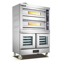 Quality Gas Deck Oven with Electric Proofer Cabinet 2 Deck 4 Trays with Proofer FMX-GO204 for sale
