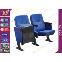 Buy Lecture Hall Folding Theater Seats Small Back Fixed Auditorium Chairs With Writing Pad at wholesale prices