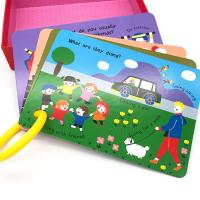 Buy cheap Cardboard Full Color Card Educational Flash Cards Printing With Round Pp Ring from wholesalers
