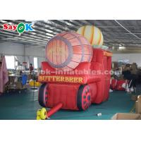 Quality High Air Tightness Inflatable Holiday Decorations Halloween Pumpkin Carriage for sale