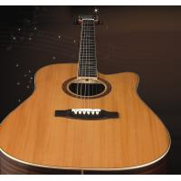 Quality Luxurious Solidwood acoustic 6 string guitar for student TP-AG519C for sale