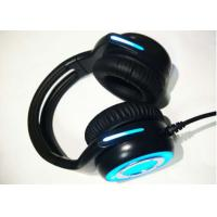 Buy Cool wired stereo gaming headset noise cancelling microphone / blue gaming headphones at wholesale prices