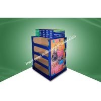 Quality Four Shelf Double - face - show Cardboard Floor Display Stands For Lady Bag With UV Coating for sale