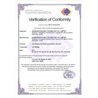 Shenzhen Joymate Technology Co., Ltd Certifications
