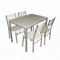 Quality Bistro Dining Table Set, Made of Melamine Faced Chipboard, Steel Frame for sale